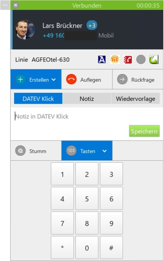 "Softphone Client ""AGFEO Dashboard"""